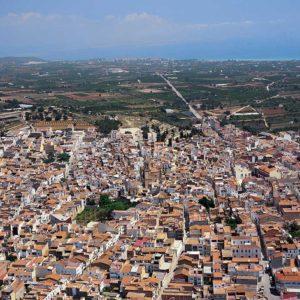 Vista aérea del municipio de Alcanar