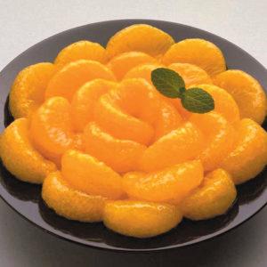 Gajos de mandarina con miel