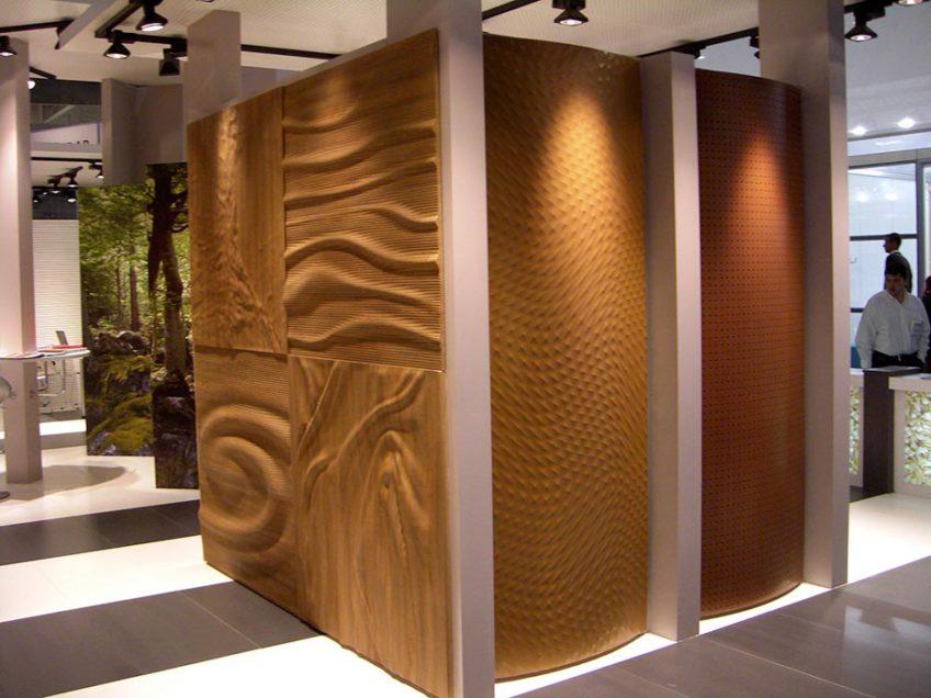 Paneles decorativos con relieve 3D